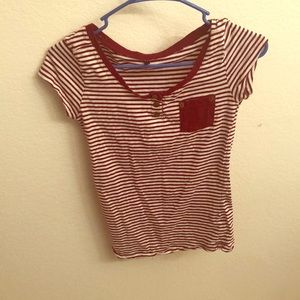 Tops - Red and white striped t shirt